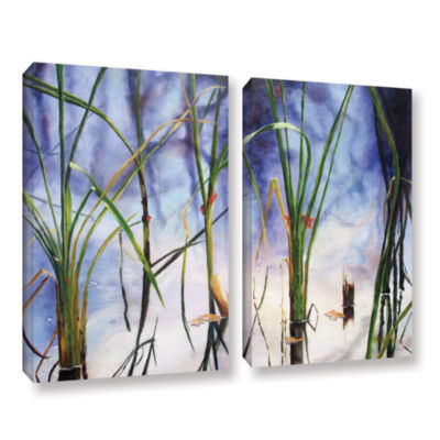 Brushstone Mystic Pond 2-pc. Gallery Wrapped Canvas Wall Art