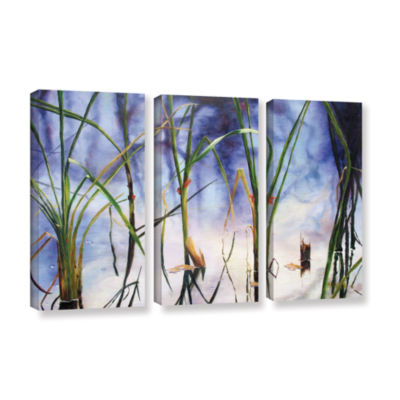 Brushstone Mystic Pond 3-pc. Gallery Wrapped Canvas Wall Art