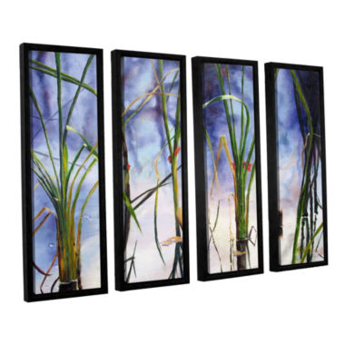 Brushstone Mystic Pond 4-pc. Floater Framed CanvasWall Art