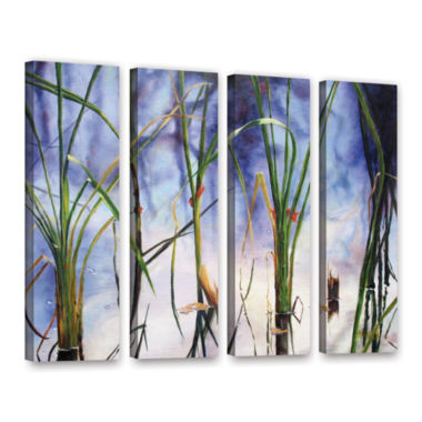Brushstone Mystic Pond 4-pc. Gallery Wrapped Canvas Wall Art
