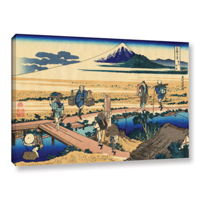 Brushstone Nakahara In Sagami Province Gallery Wrapped Canvas Wall Art
