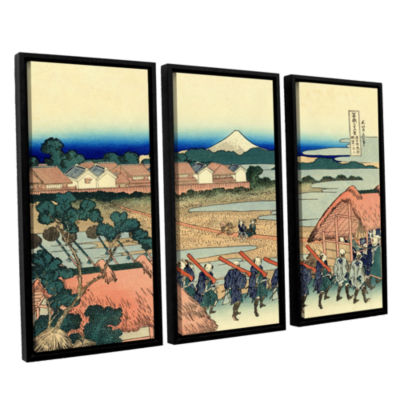Brushstone Nakahara In The Sagami Province 3-pc. Floater Framed Canvas Wall Art