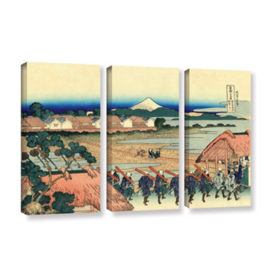 Brushstone Nakahara In The Sagami Province 3-pc. Gallery Wrapped Canvas Wall Art