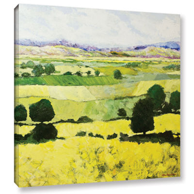 Brushstone Napa Yellow 2 Gallery Wrapped Canvas Wall Art