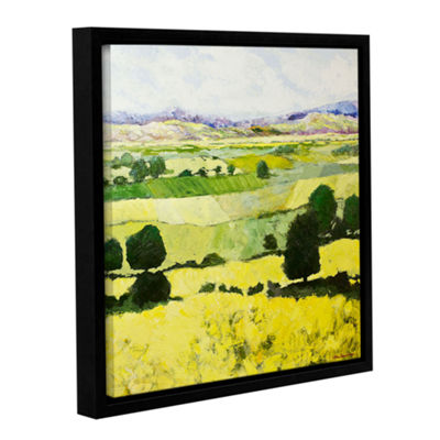 Brushstone Napa Yellow 2 Gallery Wrapped Floater-Framed Canvas Wall Art