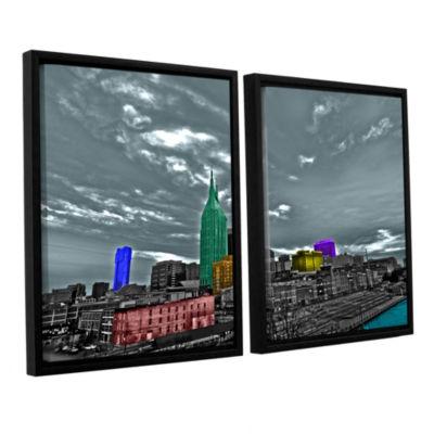 Brushstone Nashville 2-pc. Floater Framed Canvas Wall Art