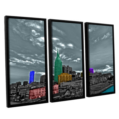 Brushstone Nashville 3-pc. Floater Framed Canvas Wall Art