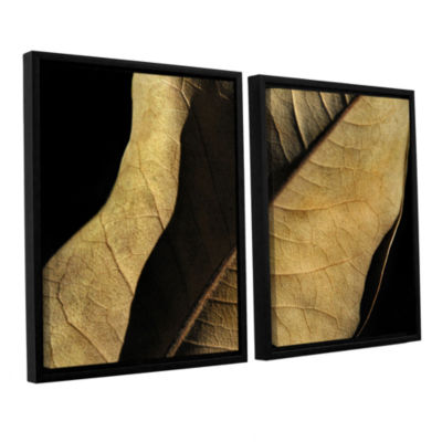 Brushstone Natural Selection (Leaf) 2-pc. FloaterFramed Canvas Wall Art