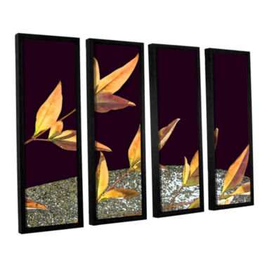 Brushstone Natural World (Fall) 4-pc. Floater Framed Canvas Wall Art