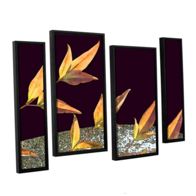 Brushstone Natural World (Fall) 4-pc. Floater Framed Staggered Canvas Wall Art