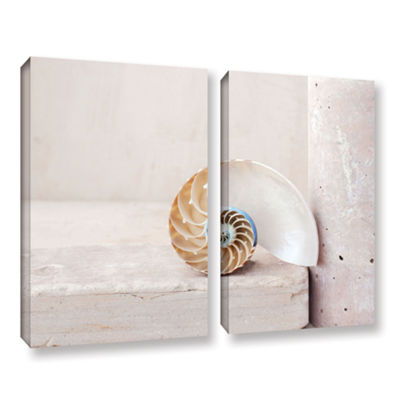 Brushstone Nautilus 2-pc. Gallery Wrapped Canvas Wall Art