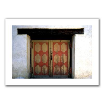 Brushstone Mission Door Canvas Wall Art