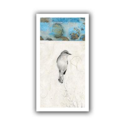 Brushstone Mocking Bird Abstract Canvas Wall Art