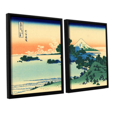 Brushstone Shichiri Beach In Sagami Province 2-pc.Floater Framed Canvas Wall Art