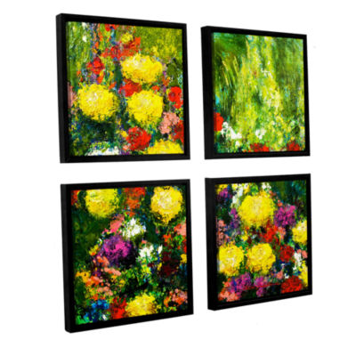 Brushstone Savannah 4-pc. Square Floater Framed Canvas Wall Art