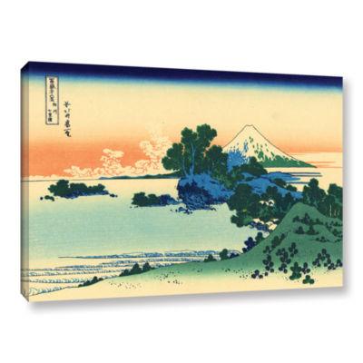 Brushstone Shichiri Beach In Sagami Province Gallery Wrapped Canvas Wall Art