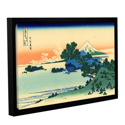 Brushstone Shichiri Beach In Sagami Province Gallery Wrapped Floater-Framed Canvas Wall Art