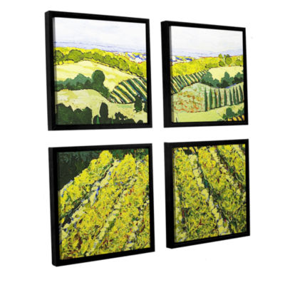 Brushstone Sharing The Discovery 4-pc. Square Floater Framed Canvas Wall Art
