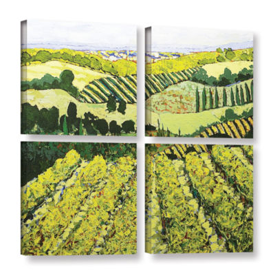 Brushstone Sharing The Discovery 4-pc. Square Gallery Wrapped Canvas Wall Art