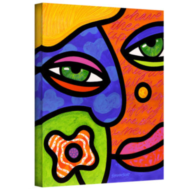 Brushstone Shirley Whirley Gallery Wrapped CanvasWall Art