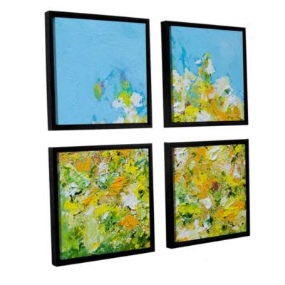 Brushstone Rousham Park Garden 4-pc. Square Floater Framed Canvas Wall Art
