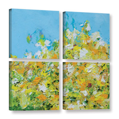 Brushstone Rousham Park Garden 4-pc. Square Gallery Wrapped Canvas Wall Art