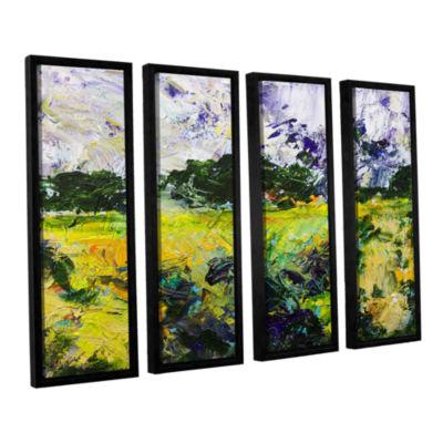 Brushstone Salisbury 4-pc. Floater Framed Canvas Wall Art