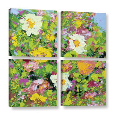 Brushstone San Souci Garden 4-pc. Square Gallery Wrapped Canvas Wall Art