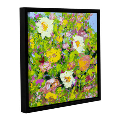 Brushstone San Souci Garden Gallery Wrapped Floater-Framed Canvas Wall Art