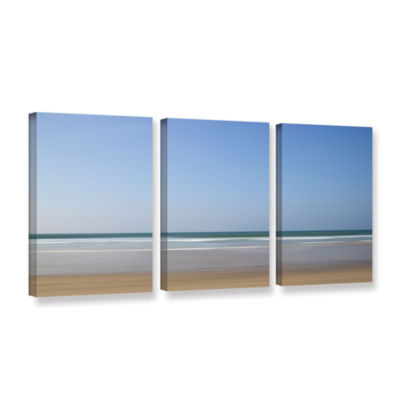 Brushstone Shore Lines 8 3-pc. Gallery Wrapped Canvas Wall Art