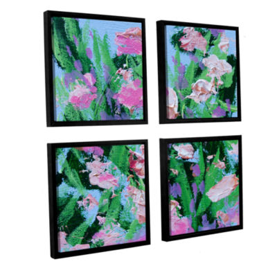 Brushstone Shalimar Garden 4-pc. Square Floater Framed Canvas Wall Art