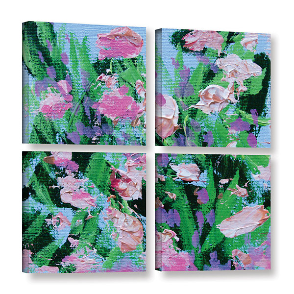 Brushstone Shalimar Garden 4-pc. Square Gallery Wrapped Canvas Wall Art