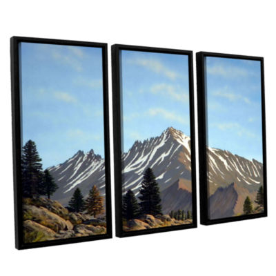 Brushstone Rugged Peaks 3-pc. Floater Framed Canvas Wall Art