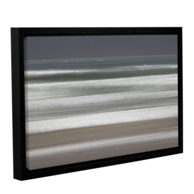 Brushstone Shore Lines 9 Gallery Wrapped Floater-Framed Canvas Wall Art