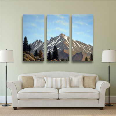 Brushstone Rugged Peaks 3-pc. Gallery Wrapped Canvas Wall Art