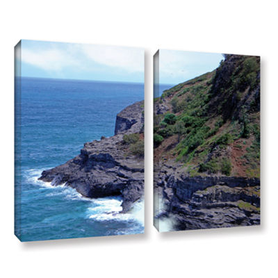Brushstone Sea Cave And Nesting Boobies 2-pc. Gallery Wrapped Canvas Wall Art