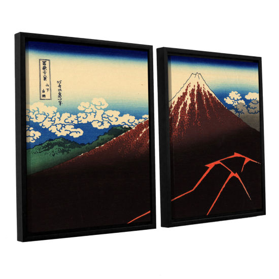 Brushstone Shower Below The Summit (Sanka Hakuu) 2-pc. Floater Framed Canvas Wall Art
