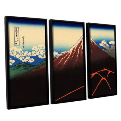 Brushstone Shower Below The Summit (Sanka Hakuu) 3-pc. Floater Framed Canvas Wall Art