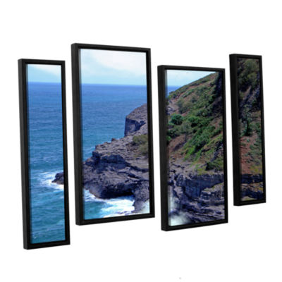 Brushstone Sea Cave And Nesting Boobies 4-pc. Floater Framed Staggered Canvas Wall Art