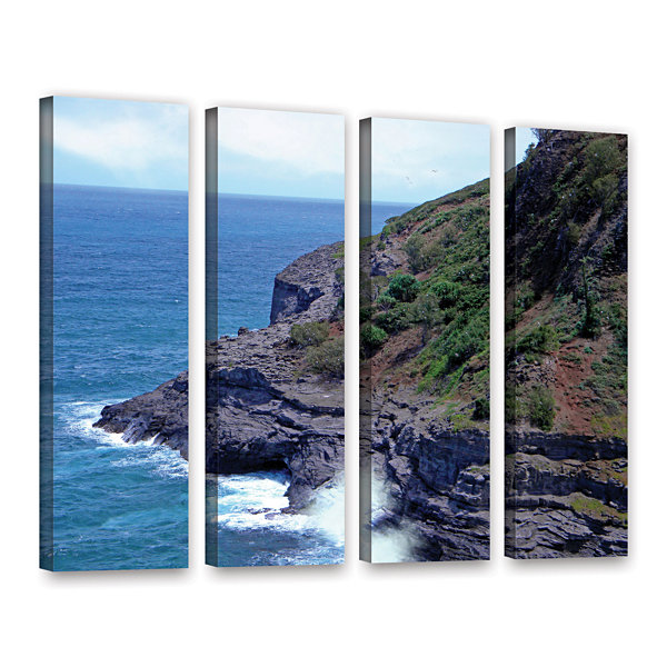 Brushstone Sea Cave And Nesting Boobies 4-pc. Gallery Wrapped Canvas Wall Art