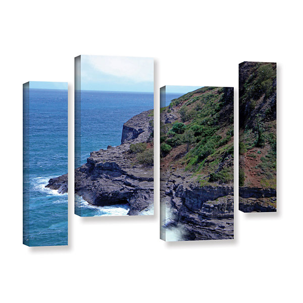 Brushstone Sea Cave And Nesting Boobies 4-pc. Gallery Wrapped Staggered Canvas Wall Art