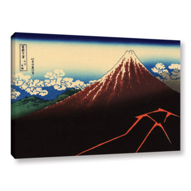 Brushstone Shower Below The Summit (Sanka Hakuu) Gallery Wrapped Canvas Wall Art