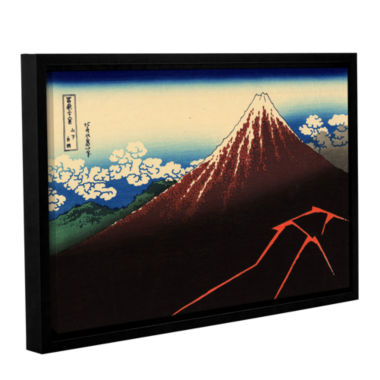 Brushstone Shower Below The Summit (Sanka Hakuu) Gallery Wrapped Floater-Framed Canvas Wall Art
