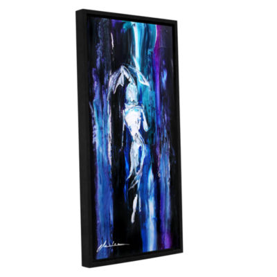 Brushstone Showers Gallery Wrapped Floater-FramedCanvas Wall Art