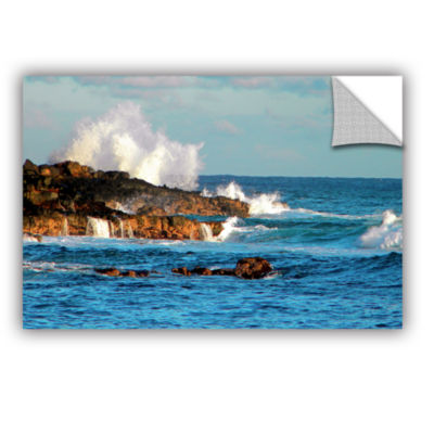 Brushstone Seascape (Rocky Coast) Removable Wall Decal
