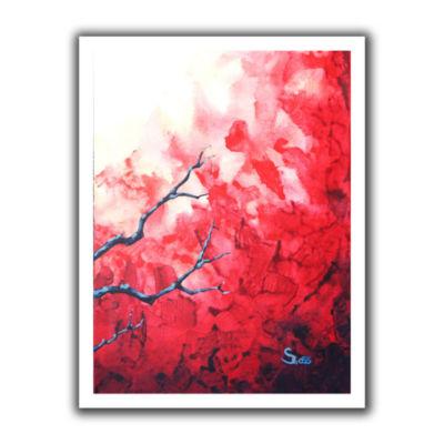 Brushstone Ruby Canvas Wall Art