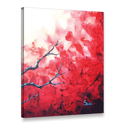 Brushstone Ruby Gallery Wrapped Canvas Wall Art