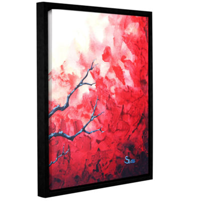 Brushstone Ruby Gallery Wrapped Floater-Framed Canvas Wall Art