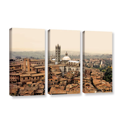 Brushstone Siena Landscape 3-pc. Gallery Wrapped Canvas Wall Art