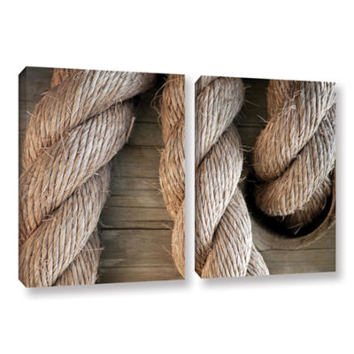 Brushstone Rope In A Hole 2-pc. Gallery Wrapped Canvas Wall Art